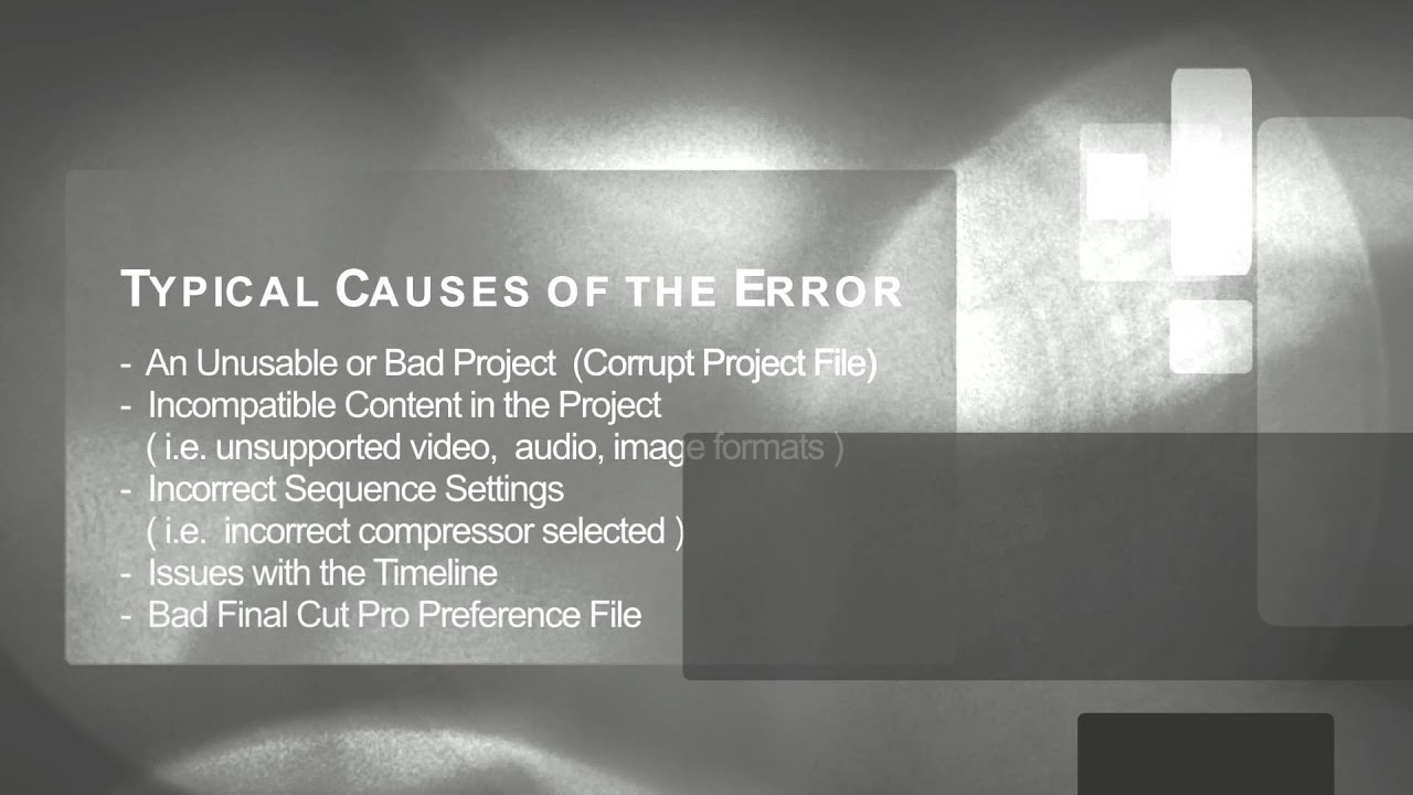 How to fix an Out of Memory Error message in Final Cut Pro 6 or 7 ...