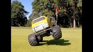 Tamiya RC Car Golf Course Invasion.  Lunchbox and friends RC summer fun