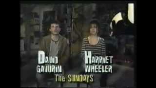 The Sundays HARRIET AND DAVID Hostin an Mtv show
