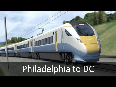 Philadelphia to Baltimore to DC High Speed Rail
