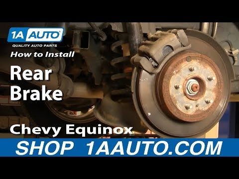 How To Install Replace Rear Brakes Chevy Equinox Pontiac Torrent 07-09 1AAuto.com