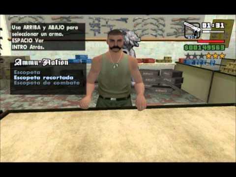 GTA San Andreas Mod Efectos reales y armas