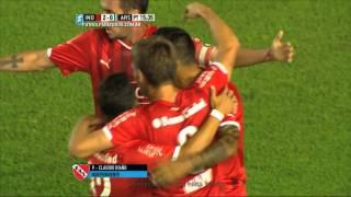 Gol de Riaño. Independiente 2 - Arsenal 0. Fecha 6. Primera División 2015. FPT.