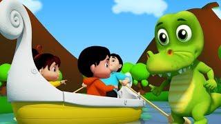 hàng hàng hàng của bạn thuyền | thuyền bài hát cho trẻ em | bé vần điệu | Row Row Row you Boat