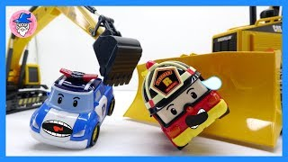 ROBOCAR POLI rescue tool for POLI, AMBER, bruder construction toys caterpillar, bulldozer, excavator