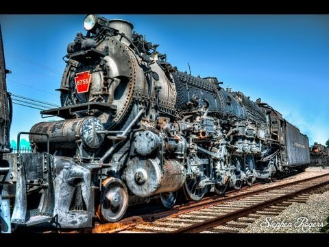 Old Abandoned Looking and Restored Trains / Locomotives at Pennsylvania Railroad Museum