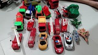 Xe ô tô đồ chơi,xe cẩu,xe bồn,xe cứu hỏa,xe đổ rác,xe xúc cát# Kids toy # Truck