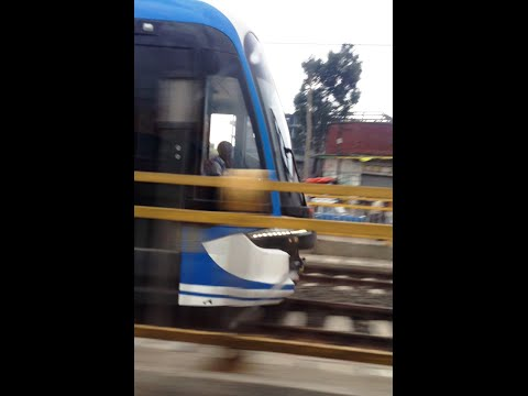 Addis Ababa Light Train From Menelik II Square