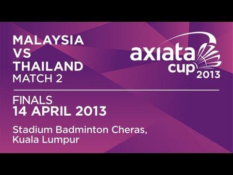 Finals - XD - Goh L.Y./Chan P.S. (MAS) vs S.Prapakamol/S.Thoungthongkam (THA) - Axiata Cup 2013