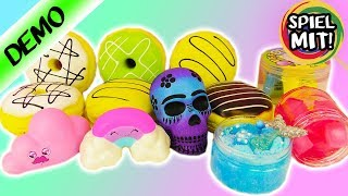ULTIMATIVE SQUISHY + SCHLEIM Toys Deutsch - Mermaid Slime, Regenbogen Squishy, Donuts! Kaans Traum