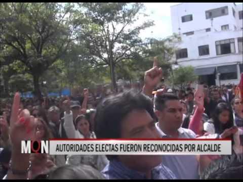 31-03-2015:18:58- AUTORIDADES ELECTAS FUERON RECONOCIDAS POR ALCALDE MONTES