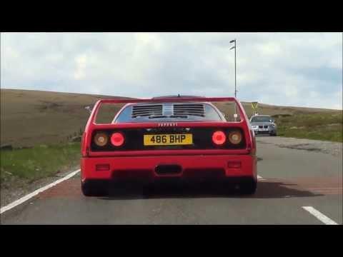The SOUND Ferrari F40 on the road