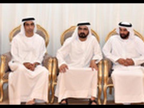 محمد بن راشد يقدم واجب العزاء في وفاة الحاج بن خادم بن بطي الميدور المهيري