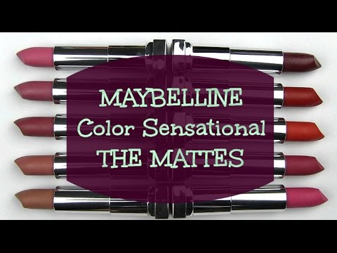 Maybelline Matte Color Sensational Lipsticks: Lip Swatches, Live Swatches, Review