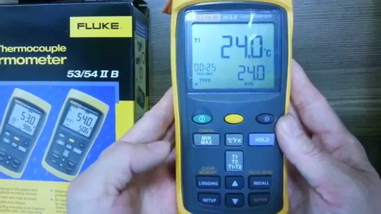Fluke Digital Thermometer Fluke 54-2b Dual Input Digital