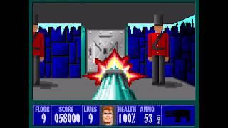 Wolfenstein 3D - Xmas Wolf Mod 100% - Floor 9 [MS-DOS]