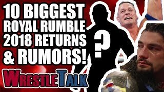 10 BIGGEST WWE ROYAL RUMBLE 2018 RUMORS, RETURNS & SURPRISES!