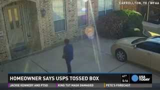 Video catches postal worker throwing $4,000 package
