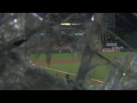 Jones shatters camera lens with foul ball