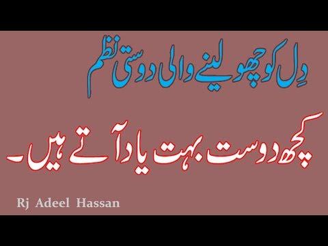 Most Heart Touching Friendship Poem|Best Urdu Friendship Poem|Adeel Hassan|Dosti Poem|Friendship|