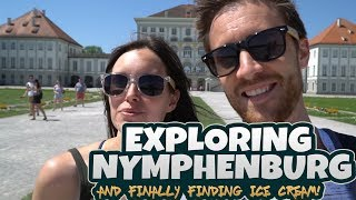 Touring the Nymphenburg Palace gardens - and we finally found ice cream!
