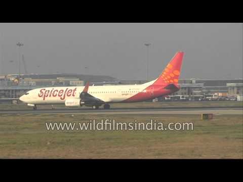 T3 IGIA Airport in New Delhi, with SpiceJet on runway