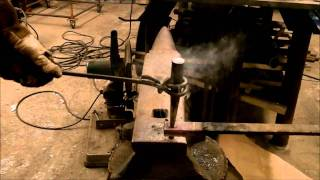 Basic Blacksmithing Hot Punching Steel