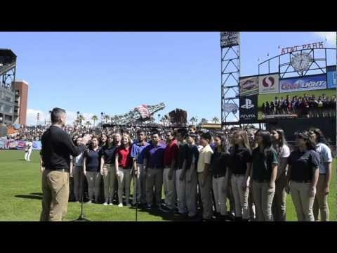Sacred Heart Cathedral Preparatory Star Spangled Banner 2012 at AT&T Park
