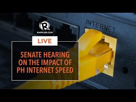 LIVE: Senate hearing on the impact of PH internet speed