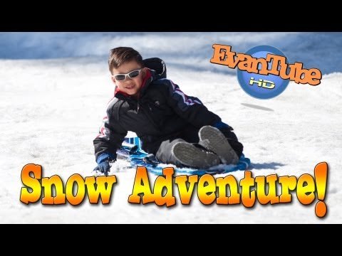 EvanTubeHD SNOW ADVENTURE & Sledding FAILS!