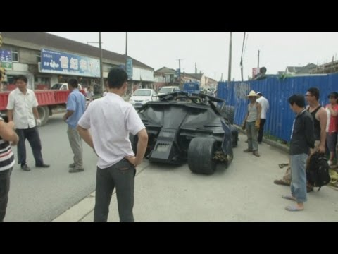 Man in China builds his own Batmobile