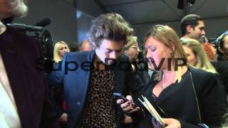 Harry Styles at Burberry London Fashion Week SS14 on Sept...