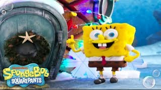 It's A SpongeBob Christmas | 'Santa Has His Eye On Me' Music Video ? | Nick