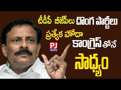 Byreddy Rajasekhar Reddy SENSATIONAL Comments on BJP & TDP|| PJ NEWS