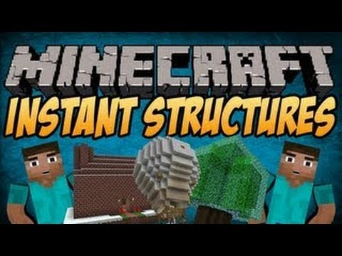 Minecraft 1.7.4 Mods   Instant Structures Mod Showcase