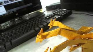 Origami Dragon De 3 Cabezas J. Anibal Voyer Iniesta.wmv