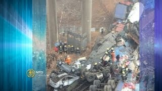 Bridge Collapse After Fireworks Explosion-NTD China News, February 1, 2013