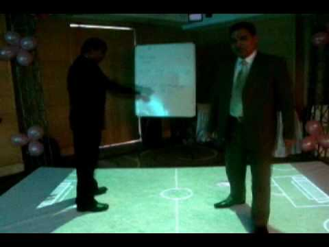 Interactive floor projection system installation by TouchMagix for Glenmark Pharma Conference