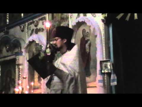 Пасхальная литургия в храме села Сеньково  2014 год