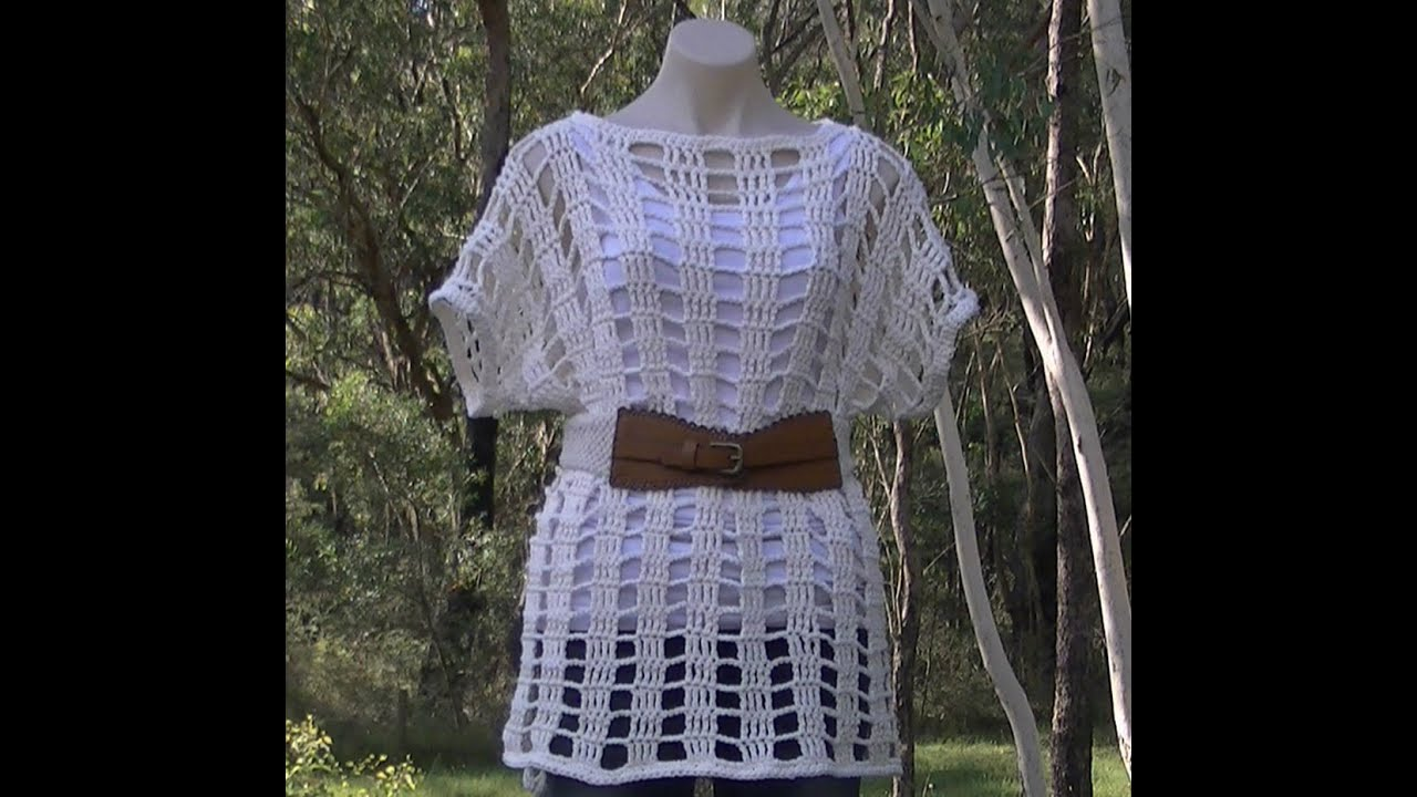 Free Crochet Patterns For Mesh Tops : Mesh Summer Top Crochet Tutorial Part 1 of 2 - YouTube