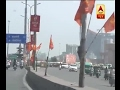 Hindu Yuva Vahini flags decorating Lucknow roads soon after Adityanath becomes CM