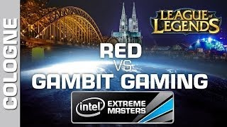 Gambit Gaming vs RED Game1 Quarterfinal IEM Cologne 2013