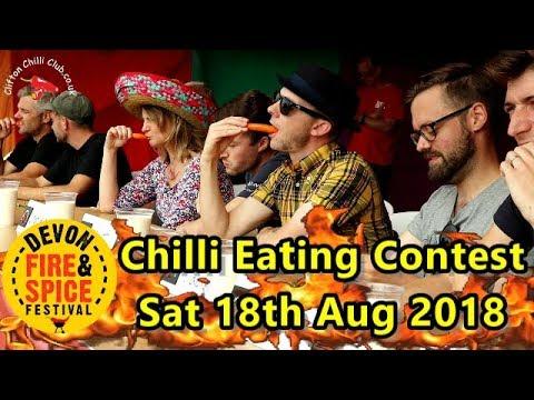 Chilli Eating Contest Devon Fire & Spice Festival Saturday 18th August 2018