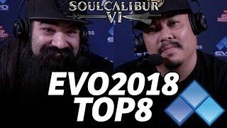 EVO 2018 SOUL CALIBUR 6 TOP8 FINALS (TIMESTAMP) w/ Aris & Markman