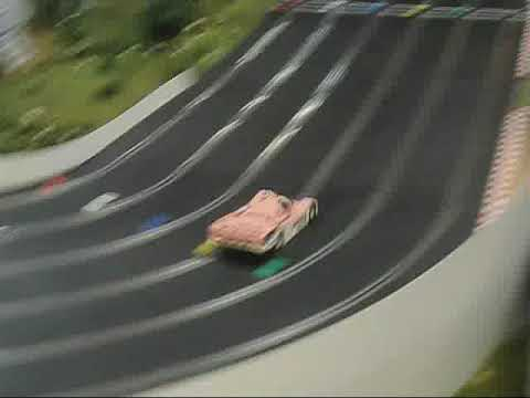 SLOT CAR RACING at the EXTREME HOBBY GIANT SCALEXTRIC TRACK