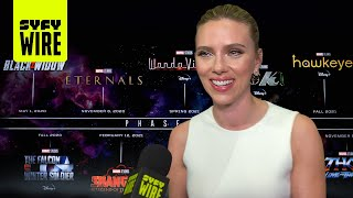 Black Widow Cast Previews Phase 4 Movies | SDCC 2019 | SYFY WIRE