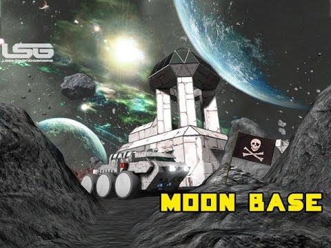 Space Engineers - Lunar Mining Base, Building On A Planet Concept ?