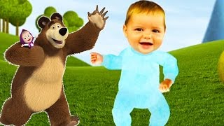 🎈MASHA AND THE BEAR🎈 - FINGER FAMILI Маша и Медведь Canciones la la Granja