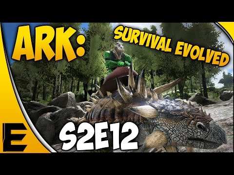 "ARK Survival Evolved Gameplay ➤ ""Metal Mining Using The Ankylosaurus"" [S2E12]"