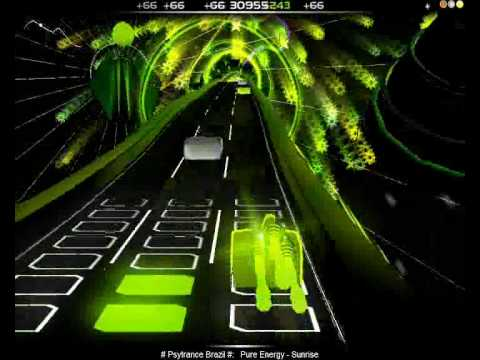 Audiosurf Playthrough: Pure Energy - Sunrise by # Psytrance Brazil #